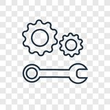 Icône linéaire de vecteur de concept de support technique d'isolement sur le transpa illustration libre de droits