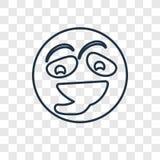 Icône linéaire de vecteur de concept de Ti d'isolement sur le fond transparent illustration libre de droits