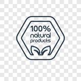 icône linéaire de vecteur naturel de concept de 100 pour cent d'isolement sur le transport illustration libre de droits