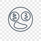 Icône linéaire hypnotisée de vecteur de concept d'isolement sur le Ba transparent illustration libre de droits