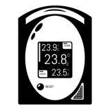 Icône médicale de tonometer, style simple Images libres de droits