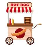 Icône mobile de casse-croûte de hot-dog, style de bande dessinée Illustration de Vecteur
