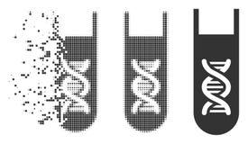 Icône mobile de laboratoire d'image tramée de pixel d'analyse génétique illustration de vecteur