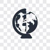 Icône mondiale de vecteur d'isolement sur le fond transparent, conception mondiale de logo illustration libre de droits