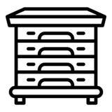 Icône multi de ruche, style d'ensemble illustration de vecteur