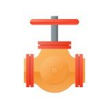 Icône naturelle de gazoduc de conception plate Image stock