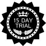 Icône noire d'essai d'insigne de quinze jours illustration libre de droits