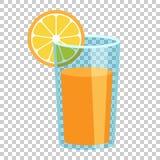 Icône orange de vecteur de jus de fruit dans le style plat Coq orange d'agrume illustration de vecteur