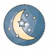 Icône originale, créative, mignonne de ` de nuit de `, suggestive de la tranquilité illustration libre de droits