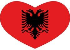 Icône originale et belle de drapeau au coeur Albanie illustration de vecteur