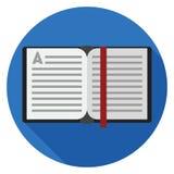 Icône ouverte de livre dans la conception plate Photos libres de droits