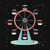 Icône panoramique de roue de carnaval illustration stock