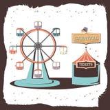 Icône panoramique de roue de carnaval illustration libre de droits
