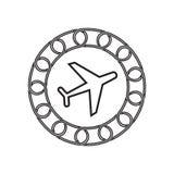 Icône plate avec le concept de blockchain Future technologie illustration stock