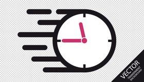 Icône plate d'horloge de vitesse - illustration de vecteur - d'isolement sur le fond transparent illustration de vecteur
