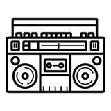Icône plate de boombox illustration libre de droits