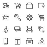 Icône plate de commerce électronique illustration libre de droits