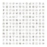 Icône plate de communication illustration stock
