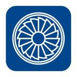Icône plate de conception de vecteur de propulseur illustration libre de droits