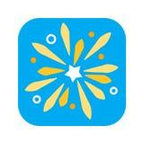Icône plate de couleur de feu d'artifice de vacances Pyrotechnie, concept de salutation illustration libre de droits