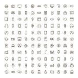 Icône plate de dispositif illustration stock