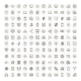 Icône plate de données illustration stock