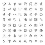 Icône plate de navigation illustration stock