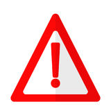 Icône plate de signe d'attention de danger d'exclamation Image stock