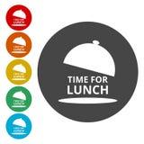 Icône plate de temps de déjeuner de couleur illustration libre de droits