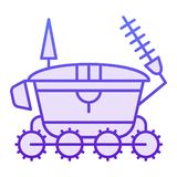 Icône plate de vagabond de lune Icônes violettes d'astronomie dans le style plat à la mode Conception de style de gradient de véh illustration libre de droits