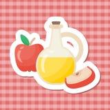 Icône plate de vecteur au vinaigre de cidre d'Apple illustration libre de droits