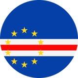 Icône plate ronde de vecteur de drapeau du Cap Vert illustration libre de droits
