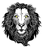 Icône principale de lion Illustration de Vecteur