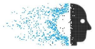 Icône principale de pixel d'érosion de cyborg illustration libre de droits