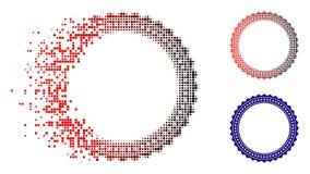 Icône réduite en fragments de cadre de Dot Halftone Rosette Circular Star illustration libre de droits