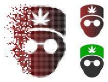 Icône réduite en fragments de Dot Halftone Cannabis Doctor Head Illustration Libre de Droits