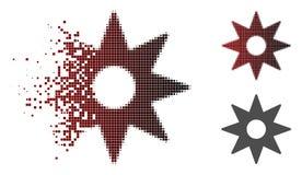 Icône réduite en fragments de Dot Halftone New Star Sticker illustration libre de droits