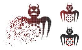 Icône réduite en fragments de Dot Halftone Roulette Spectre Devil illustration libre de droits