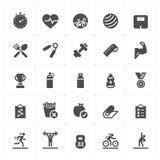 Icône réglée - icône remplie par forme physique illustration libre de droits