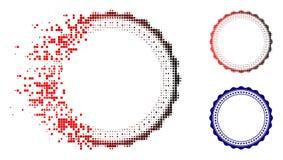 Icône rompue de cadre de Dot Halftone Rosette Circular Star illustration de vecteur