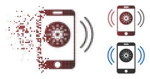 Icône rompue de Dot Halftone Cardano Mobile Banking Illustration de Vecteur