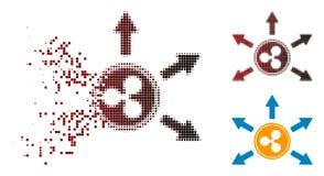 Icône rompue de Dot Halftone Ripple Cashout Arrows Illustration Libre de Droits