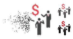 Icône rompue de personnes de Dot Halftone Financial Discussion Businessmen illustration libre de droits