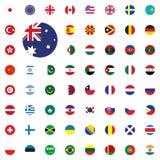 Icône ronde de drapeau d'Australie Icônes rondes d'illustration de vecteur de drapeaux du monde réglées illustration de vecteur