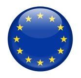 Icône ronde de vecteur de drapeau d'Union européenne illustration libre de droits