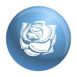 Icône rose décorative, style simple illustration libre de droits