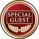 Icône rouge de luxe d'emblème d'invité spécial illustration stock