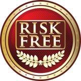 Icône rouge de luxe gratuite d'insigne de risque illustration de vecteur