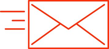 Icône - Senting/courrier entrant - vecteur Image stock