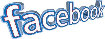 Icône sociale 3D de media et logo Image libre de droits